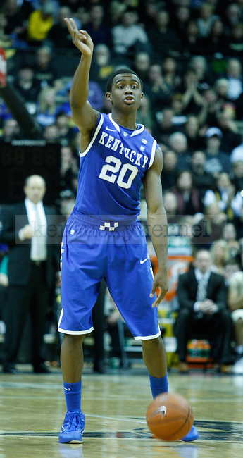 Freshman guard, Doron Lamb, calls a play in the second half of the UK vs. Vandy game on Saturday, February 12, 2011.  Photo by Latara Appleby | Staff