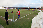 Dagenham and Redbridge 1 Burton Albion 3, 21/02/2015. Victoria Road, League Two. A corner taken by Billy Bingham for Dagenham. Burton Albion moved to the top of League Two following a hard-fought win over Dagenham & Redbridge played in-front of 1,718 supporters. Photo by Simon Gill.