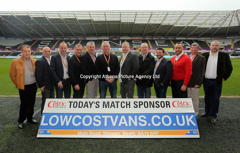 Match sponsors before the Barclays Premier League match between Swansea City and Crystal Palace at the Liberty Stadium, Swansea on February 06 2016