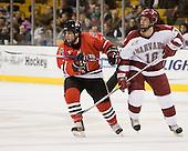 Joe Santilli (NU - 7), Steve Mandes (Harvard - 16) - The Northeastern University Huskies defeated the Harvard University Crimson 3-1 in the Beanpot consolation game on Monday, February 12, 2007, at TD Banknorth Garden in Boston, Massachusetts.
