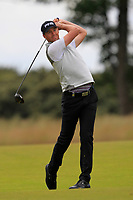 Victor Perez (FRA) on the 1st during Round 4 of the Aberdeen Standard Investments Scottish Open 2019 at The Renaissance Club, North Berwick, Scotland on Sunday 14th July 2019.<br /> Picture:  Thos Caffrey / Golffile<br /> <br /> All photos usage must carry mandatory copyright credit (© Golffile | Thos Caffrey)