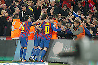 Barcelona's Pedro Rodriguez goal during Spain's Kings Cup on January 25th 2012Barcellona Real Madrid 2-2  Coppa del Re .foto Insidefoto / Cesar Cebolla / Alterphotos .Italy Only