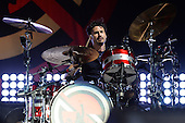 WEST PALM BEACH, FL - OCTOBER 02: Brad Wilk of Prophets of Rage performs at The Perfect Vodka Amphitheater on October 2, 2016 in West Palm Beach Florida. Credit Larry Marano © 2016