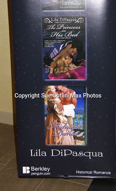 "Author Lila DePasqua ""The Princess in his Bed"" - poster at Romantic Times Booklovers Annual Convention 2011 - The Book Industry Event of the Year - April 6th to April 10th at the Westin Bonaventure, Los Angeles, California for readers, authors, booksellers, publishers, editors, agents and tomorrow's novelists - the aspiring writers. (Photo by Sue Coflin/Max Photos)"