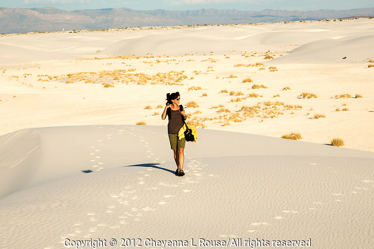 "This is my ""commute"" to work! Photographing the beauty that is White Sands NM in New Mexico"