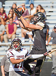 Palos Verdes, CA 09/19/14 - Jacob Walters (Torrance #21) and Jason Burr (Peninsula #7)in action during the Torrance-Palos Verdes Peninsula CIF Varsity football game at Peninsula High School.  Torrance defeated Peninsula 47-21