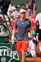02-06-12, France, Paris, Tennis, Roland Garros,    Andy Murray