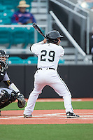 Anthony Marks (29) of the Coastal Carolina Chanticleers at bat against the Bryant Bulldogs at Springs Brooks Stadium on March 13, 2015 in Charlotte, North Carolina.  The Chanticleers defeated the Bulldogs 7-2.  (Brian Westerholt/Four Seam Images)