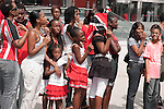 Spectators, Independence Day 2010, Port of Spain parade outside NAPA
