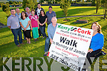 Front l-r James Wrenn, Mary Lynch Back l-r John O'Sullivan, Gerry Flynn, Sandra Finn, Mike Leen, Joanne Dowling, Jamie Wrenn, Hannah McCarthy, Mike Fitzgerald. launch the Kerry Cork Health Link Bus, (Kerry Cancer Support Group) Annual Walk, this year in Memory of Jamie Wrenn on July 26th 10am from the AquaDome Tralee to Castlegregory
