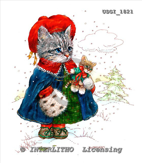GIORDANO, CHRISTMAS ANIMALS, WEIHNACHTEN TIERE, NAVIDAD ANIMALES, Teddies, paintings+++++,USGI1821,#XA#