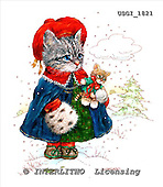 GIORDANO, CHRISTMAS ANIMALS, WEIHNACHTEN TIERE, NAVIDAD ANIMALES, Teddies, paintings+++++,USGI1821,#XA#