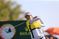 Chella Choi (KOR) tees off the 6th tee during Thursday's Round 1 of The Evian Championship 2018, held at the Evian Resort Golf Club, Evian-les-Bains, France. 13th September 2018.<br /> Picture: Eoin Clarke | Golffile<br /> <br /> <br /> All photos usage must carry mandatory copyright credit (© Golffile | Eoin Clarke)