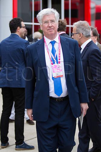 10.07.2016. Silverstone, England. Formula One British Grand Prix, race day.  Secretary of State for Defence Michael Fallon attending the Grand Prix.