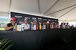 KAILUA-KONA, HI - OCTOBER 11:  A general view of Javier Gomez and the rest of the athletes during the Professional Athlete Press Conference leading up to the 2018 IRONMAN World Championships in Kailua-Kona, Hawaii on October 11, 2018. (Photo by Donald Miralle for IRONMAN)
