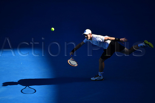 January 16th 2017, Melbourne Park, Melbourne, Australia; Andy Murray (GBR) during his match against Illya Marchenko (UKR) in the first round of the 2017 Australian Open Tennis Grand Slam tournament; Murray won 7-5 7-6(5) 6-2 ten