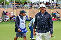 Ken Duke (USA) departs 16 after sinking his putt during round 3 of the Valero Texas Open, AT&amp;T Oaks Course, TPC San Antonio, San Antonio, Texas, USA. 4/22/2017.<br /> Picture: Golffile | Ken Murray<br /> <br /> <br /> All photo usage must carry mandatory copyright credit (&copy; Golffile | Ken Murray)