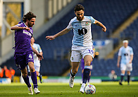 Blackburn Rovers's Ben Brereton gets away from Stoke City's Joe Allen<br /> <br /> Photographer Alex Dodd/CameraSport<br /> <br /> The EFL Sky Bet Championship - Blackburn Rovers v Stoke City - Saturday 6th April 2019 - Ewood Park - Blackburn<br /> <br /> World Copyright © 2019 CameraSport. All rights reserved. 43 Linden Ave. Countesthorpe. Leicester. England. LE8 5PG - Tel: +44 (0) 116 277 4147 - admin@camerasport.com - www.camerasport.com