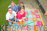 GOING IT ALONE: Four South Kerry locals left unemployed in April, decided to set up their own business Iveragh Play Markings in May. From front l-r: Patrick Mahony and Julie O'Connor. Back l-r: James Shean and Padraig O'Neill.