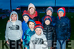 East Kerry supporters pictured at the County Final in Austin Stack Park, Tralee, on Sunday last were l-r: Padraig O'Sullivan, Jonathan Galvin, Jack O'Shea, Aileen O'Leary, R James O'Leary Griffin, Sean Og O'Leary Griffin, Sinead Galvin and Joan Warren.