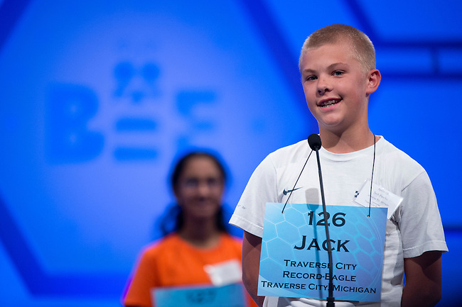 Speller 126 Jack Pasche competes in the preliminary rounds of the Scripps National Spelling Bee at the Gaylord National Resort and Convention Center in National Habor, Md., on Wednesday,  May 30, 2012. Photo by Bill Clark