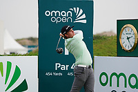 Sami Valimaki (FIN) on the 1st during Round 1 of the Oman Open 2020 at the Al Mouj Golf Club, Muscat, Oman . 27/02/2020<br /> Picture: Golffile   Thos Caffrey<br /> <br /> <br /> All photo usage must carry mandatory copyright credit (© Golffile   Thos Caffrey)