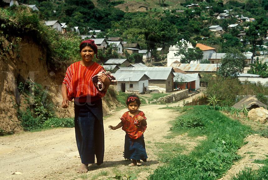 Guatemalan Mayan Indian mother and child
