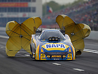 Apr 20, 2018; Baytown, TX, USA; NHRA funny car driver Ron Capps during qualifying for the Springnationals at Royal Purple Raceway. Mandatory Credit: Mark J. Rebilas-USA TODAY Sports