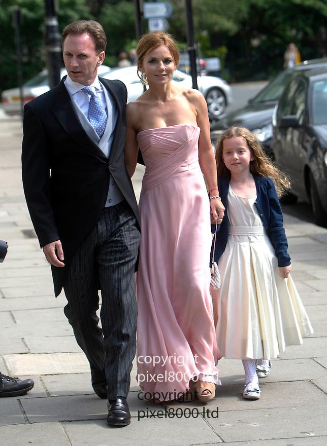 Poppy Delevigne wedding knightsbridge today<br /> <br /> Geri Halliwell arrives with new boyfriend Formula 1 Red Bull boss Christian Horner.<br /> <br /> <br /> <br /> <br /> Pic by Gavin Rodgers/Pixel 8000 Ltd