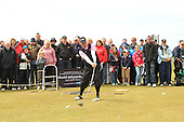 David Edwards performs his trick show during the final day of The Senior British Open Presented by Rolex: The Senior British Open is being played over the Ailsa Course at Turnberry, Ayrshire, Scotland from 26th to 29th July 2012: Picture Stuart Adams www.golftourimages.com: 29th July 2012