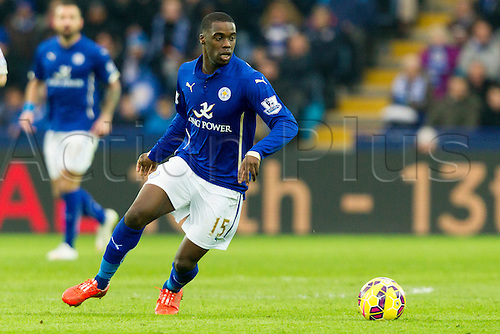 07.02.2015.  Leicester, England. Barclays Premier League. Leicester City versus Crystal Palace. Jeff Schlupp of Leicester City on the ball.