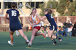 Santa Barbara, CA 02/18/12 - Lauren Littleton (Arizona State #24) and unidentified BYU player(s) in action during the Arizona State vs BYU matchup at the 2012 Santa Barbara Shootout.  BYU defeated Arizona State 10-8.