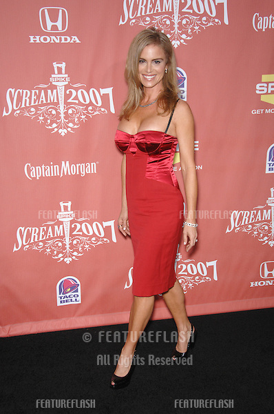 "Betsy Russell at Spike TV's ""Scream 2007"" Awards honoring the best in horror, sci-fi, fantasy & comic genres, at the Greak Theatre, Hollywood..October 20, 2007  Los Angeles, CA.Picture: Paul Smith / Featureflash"