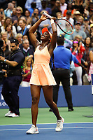 Sloane Stephens of United States celebrate his victory during the Women's Single finals match on Day Thirteen of the Us Open 2017 at USTA Billie Jean King National Tennis Center on September 8, 2017 in New York City. (Photo by Marek Janikowski/Icon Sport)