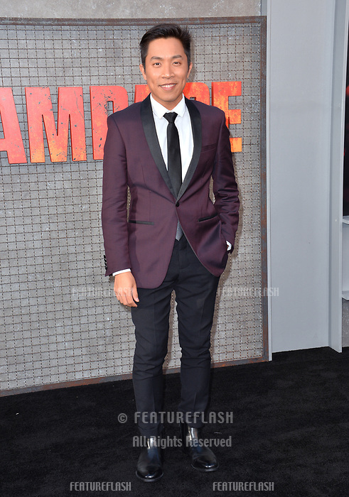 David An at the premiere for &quot;Rampage&quot; at the Microsoft Theatre, Los Angeles, USA 04 April 2018<br /> Picture: Paul Smith/Featureflash/SilverHub 0208 004 5359 sales@silverhubmedia.com