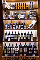 Bottles of red wine of Bodegas Arzuaga - Crianza, Reserva - ribera del Duero wine production by River Duero, Navarro, Spain