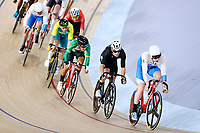 Mark Stewart Scotland  and Tom Sexton of New Zealand competes in the Men's 40km Points Race Qualifying Heat. Gold Coast 2018 Commonwealth Games, Track Cycling, Anna Meares Velodrome, Brisbane, Australia. 8 April 2018 © Copyright Photo: Anthony Au-Yeung / www.photosport.nz /SWpix.com