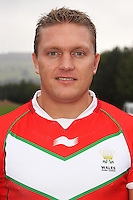 PICTURE BY IAN LOVELL/WRL...Rugby League - Wales Rugby League Headshots 2011 - 21/10/11...Wales Christiaan Roets.