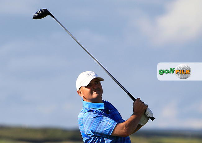 Tom Griffin (England) on the 17th tee during Round 1 of the South of Ireland Amateur Open Championship at LaHinch Golf Club on Wednesday 22nd July 2015.<br /> Picture:  Golffile | Thos Caffrey