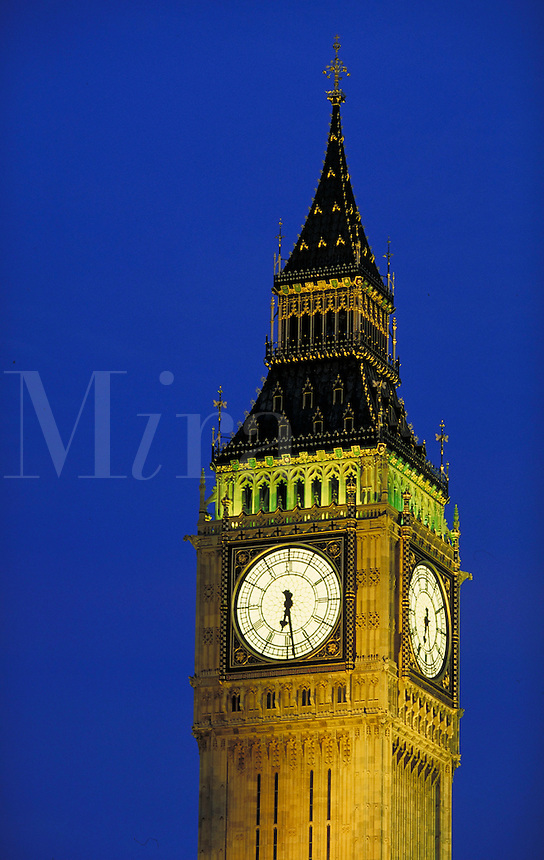 Big Ben at night. London, England. London, England.