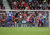 30th September 2017, Vitality Stadium, Bournemouth, England; EPL Premier League football, Bournemouth versus Leicester; Bournemouth goalkeeper Asmir Begovic punches a Leicester corner clear