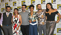 SAN DIEGO - July 22:  Cas Anvar, Shohreh Aghdashloo, Steven Strait, Dominique Tipper, Wes Chatham, Frankie Adams at Comic-Con Saturday 2017 at the Comic-Con International Convention on July 22, 2017 in San Diego, CA