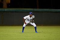 AZL Dodgers Lasorda left fielder Aldrich De Jongh (3) during an Arizona League game against the AZL Athletics Green at Camelback Ranch on June 19, 2019 in Glendale, Arizona. AZL Dodgers Lasorda defeated AZL Athletics Green 9-5. (Zachary Lucy/Four Seam Images)