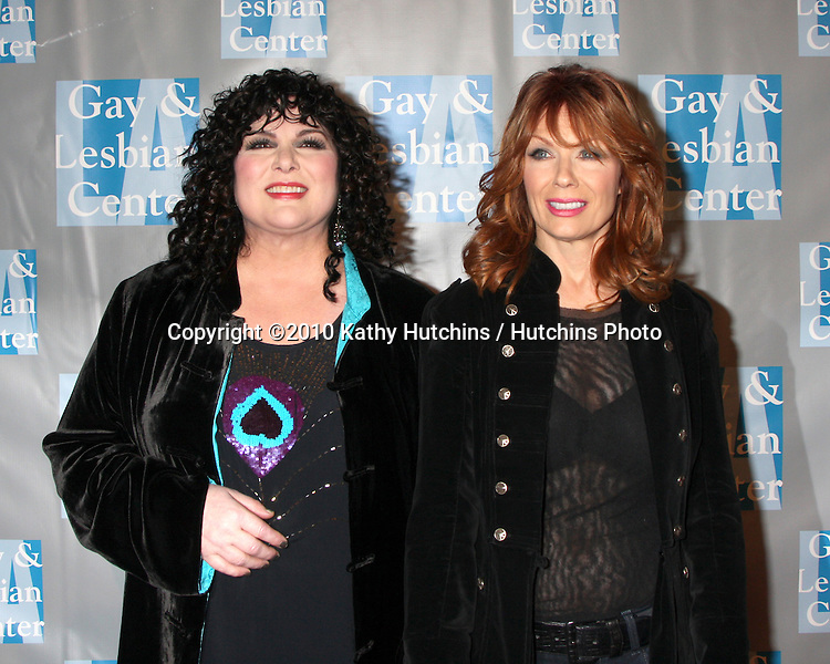 Ann & Nancy Wilson (HEART).arrives at An Evening with Women - LA Gay & Lesbian Center's Gala.Beverly Hilton Hotel.Beverly Hills, CA.May 1, 2010.©2010 Kathy Hutchins / Hutchins Photo...