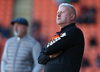 Blackpool manager Terry McPhillips <br /> <br /> Photographer Stephen White/CameraSport<br /> <br /> The EFL Sky Bet League One - Blackpool v Rochdale - Saturday 6th October 2018 - Bloomfield Road - Blackpool<br /> <br /> World Copyright © 2018 CameraSport. All rights reserved. 43 Linden Ave. Countesthorpe. Leicester. England. LE8 5PG - Tel: +44 (0) 116 277 4147 - admin@camerasport.com - www.camerasport.com