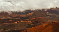 Pu'u o Maui is the tallest cinder cone in Haleakala National Park, Maui.