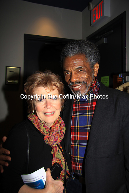 """Search for Tomorrow Anita Gillette and Another World Andre de Shields both go to see """"Good Girls Only"""" - the Rehearsal Club Musical - on March 13, 2013 at the Professional Children's School, New York City, New York. (Photo by Sue Coflin/Max Photos)  917-647-8403"""