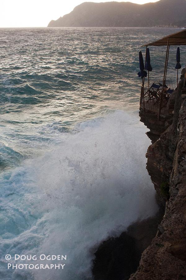 Storm waves, Vernzza, Cinque Terre, Italy