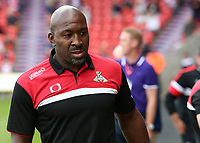 Doncaster Rovers manager Darren Moore looks on before kick off<br /> <br /> Photographer David Shipman/CameraSport<br /> <br /> The EFL Sky Bet League One - Doncaster Rovers v Fleetwood Town - Saturday 17th August 2019  - Keepmoat Stadium - Doncaster<br /> <br /> World Copyright © 2019 CameraSport. All rights reserved. 43 Linden Ave. Countesthorpe. Leicester. England. LE8 5PG - Tel: +44 (0) 116 277 4147 - admin@camerasport.com - www.camerasport.com