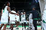 DENTON, TX - NOVEMBER 5: North Texas Mean Green Men's basketball v Texas v Oklahoma Eagles at Super Pit - North Texas Coliseum on November 5, 2019 in Denton, Texas.